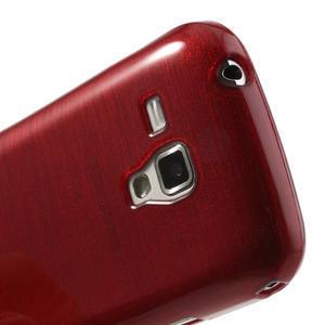 Kartáčované puzdro na Samsung Galaxy Trend, Duos- červené - 5