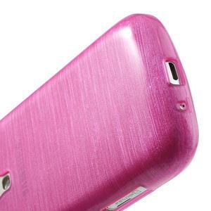 Kartáčované puzdro na Samsung Galaxy Trend, Duos- růžové - 5