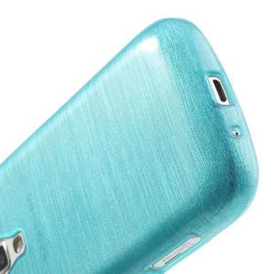 Kartáčované puzdro na Samsung Galaxy Trend, Duos- modré - 5