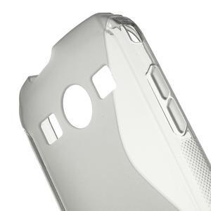 Gélové S-line puzdro pre Samsung Galaxy Xcover 2 S7710- šedé - 5