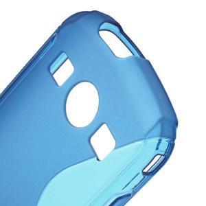 Gélové S-line puzdro na Samsung Galaxy Xcover 2 S7710- modré - 5