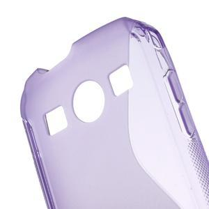 Gélové S-line puzdro pre Samsung Galaxy Xcover 2 S7710- fialové - 5