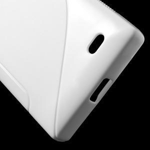 Gélové S-line puzdro na Nokia X dual- biele - 5