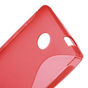 Gélové S-line puzdro na Nokia X dual- červené - 5