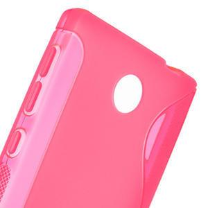 Gélové S-line puzdro na Nokia X dual- ružové - 5