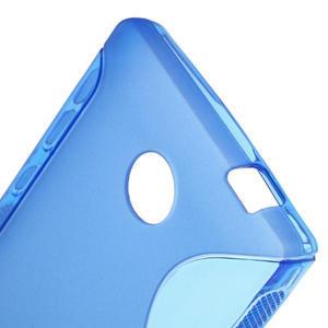 Gélové S-line puzdro na Nokia X dual- modré - 5