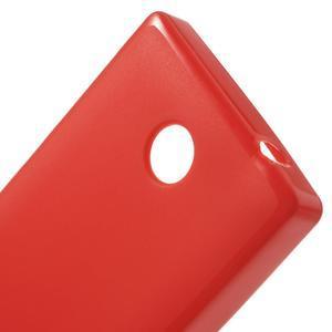 Gélové matné puzdro na Nokia X dual- červené - 5