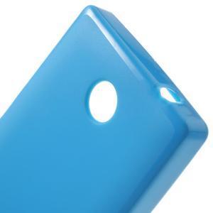 Gélové matné puzdro na Nokia X dual- modré - 5