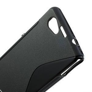 Gélové S-line puzdro na Sony Xperia Z1 Compact D5503- čierné - 5