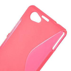 Gélové S-line puzdro pre Sony Xperia Z1 Compact D5503- ružové - 5