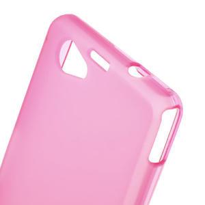 Gélové Ultraslim puzdro pre Sony Xperia Z1 Compact D5503- ružové - 5