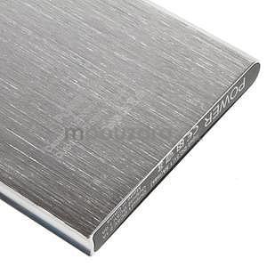Luxusná kovová externá nabíjačka power bank 12 000 mAh - strieborná - 5
