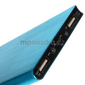 Luxusná kovová externá nabíjačka power bank 12 000 mAh - modrá - 5