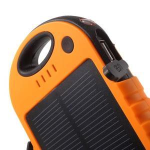 Outdoor GX vysokokapacitní externí solární nabíjačka 12 000 mAh - oranžová - 5