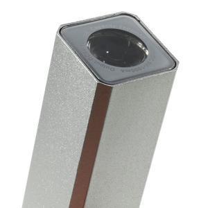 GTX kovová externí nabíjačka 2 600 mAh - strieborná - 5