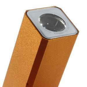 GTX kovová externí nabíjačka 2 600 mAh - oranžová - 5