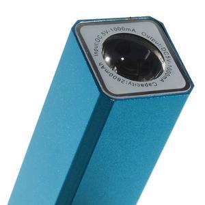 GTX kovová externí nabíjačka 2 600 mAh - modrá - 5