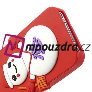 Silikonové puzdro na iPhone 4 4S - sněhulák - 5