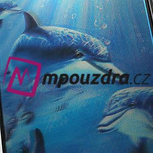 3D puzdro pre iPhone 4 4S - delfín - 5