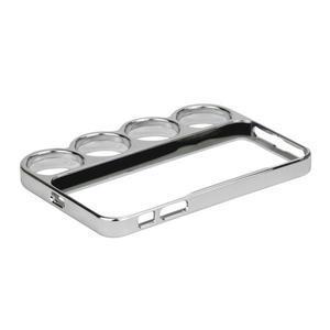 Ocelové lehké puzdro na iPhone 5, 5s- strieborné - 5