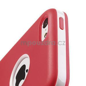 Gélové rámové puzdro pre iPhone 5C- červené - 5