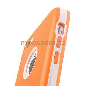 Gélové rámové puzdro pre iPhone 5C- oranžové - 5