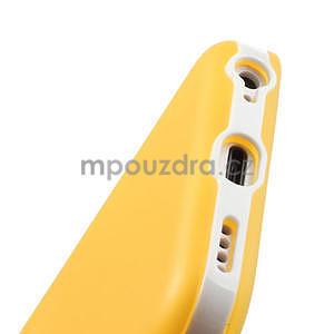 Gélové rámové puzdro pre iPhone 5C- žlté - 5