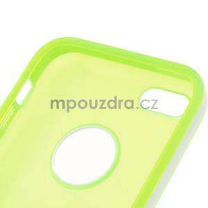 Gélové rámové puzdro pre iPhone 5C- zelené - 5
