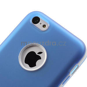 Gélové rámové puzdro pre iPhone 5C- modré - 5