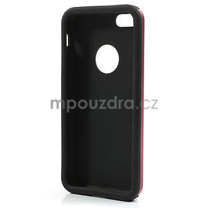 Gélové metalické puzdro pre iPhone 5C- červené - 5