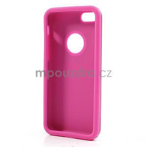 Gélové metalické puzdro pre iPhone 5C- růžové - 5