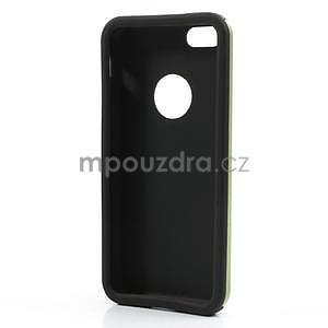 Gélové metalické puzdro pre iPhone 5C- zelené - 5