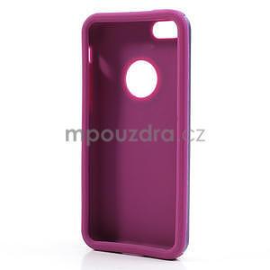 Gélové metalické puzdro pre iPhone 5C- fialové - 5