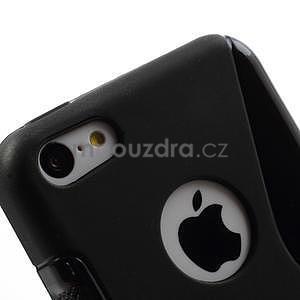 Gélové S-line puzdro pre iPhone 5C- čierné - 5