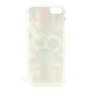 Gélové puzdro pre iPhone 5, 5s- Jack vlajka - 5