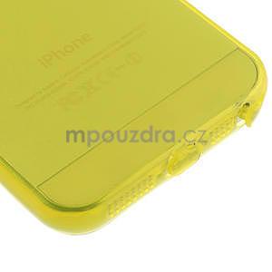 Gel-ultra slim puzdro pre iPhone 5, 5s- žlté - 5