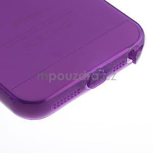 Gel-ultra slim puzdro pre iPhone 5, 5s-fialové - 5
