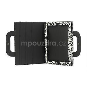 Leopard puzdro pre iPad 2, 3, 4- biele - 5