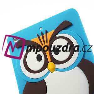 Silikonové puzdro na iPad mini 2 - modrá sova - 5