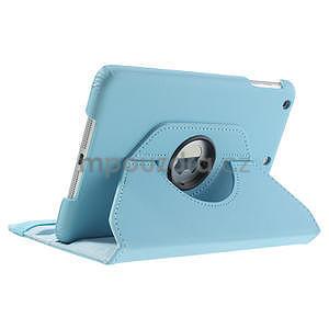 PU kožené 360° puzdro pre iPad mini- modré - 5