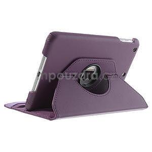 PU kožené 360° puzdro pre iPad mini- fialové - 5