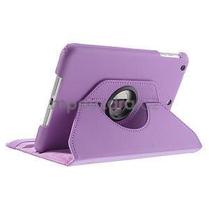PU kožené 360° puzdro pre iPad mini- svetlefialové - 5