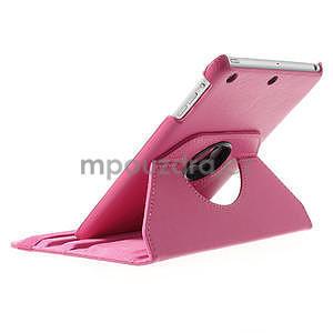 PU kožené 360° puzdro pre iPad mini- růžové - 5