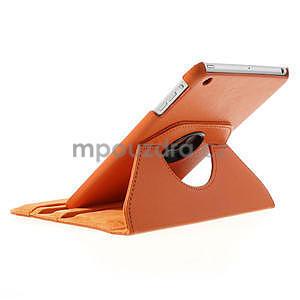 PU kožené 360° puzdro pre iPad mini- oranžové - 5