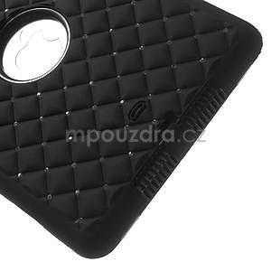 Hybridní kamínkové puzdro pre iPad mini- čierné - 5