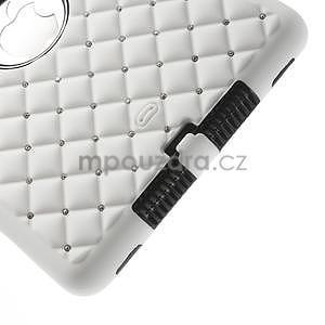 Hybridní kamínkové puzdro pre iPad mini- biele - 5