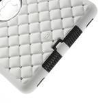 Hybridní kamínkové puzdro pre iPad mini- biele - 5/5