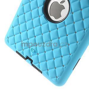 Hybridní kamínkové puzdro pre iPad mini- svetlo modré - 5