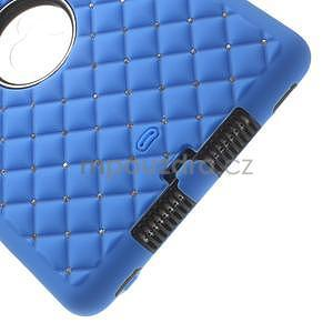Hybridní kamínkové puzdro pre iPad mini- modré - 5