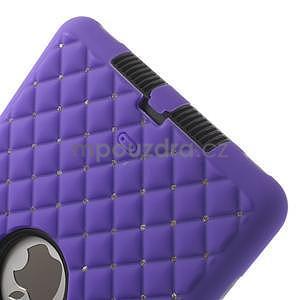 Hybridní kamínkové puzdro pre iPad mini- fialové - 5